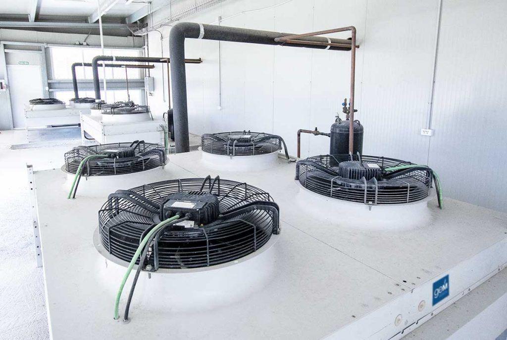 Condensadores para cámaras frigoríficas industriales