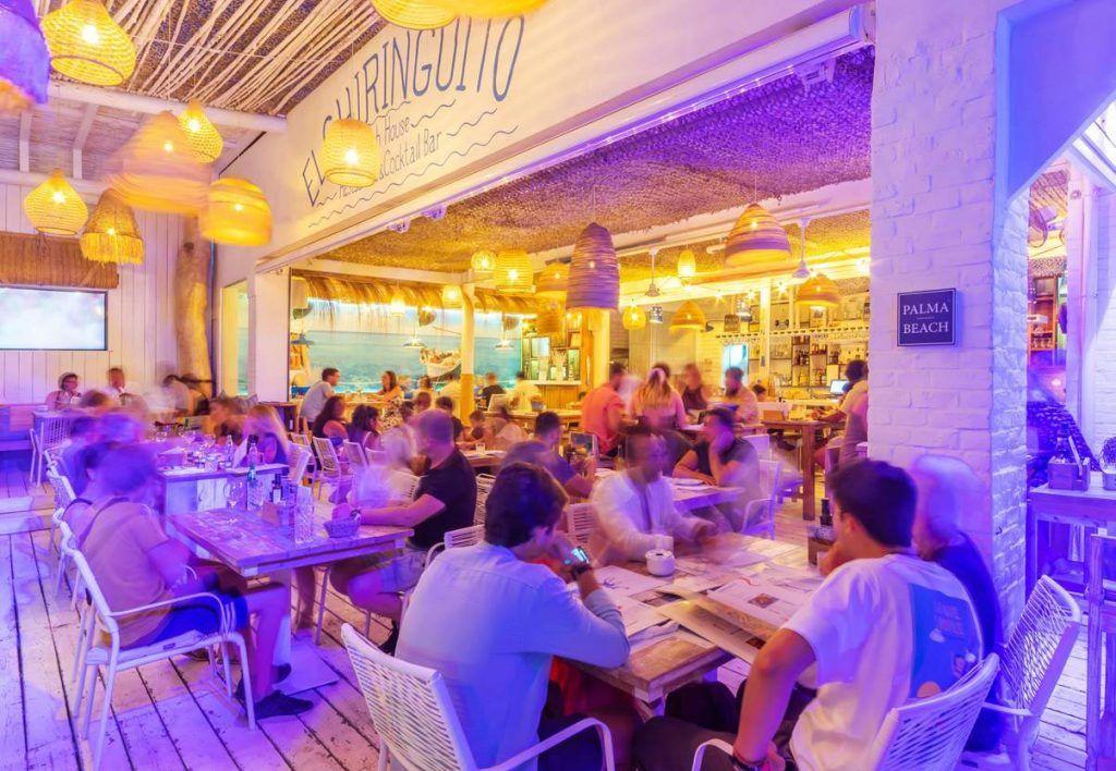 Restaurante Bikkini Beach. Palma de Mallorca